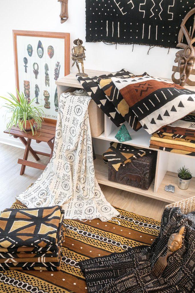 アフリカ雑貨のインテリア